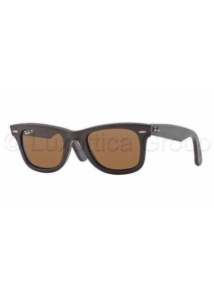 Ray-Ban Wayfarer Leather - RB2140QM 1153N6 Gepolariseerd