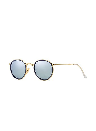 Ray-Ban Round Metal Folding - RB3517 001/30 | Ray-Ban Zonnebrillen | Fuva.nl