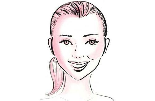 hoge haargrens vrouw