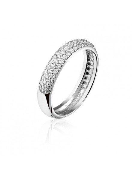 Zilveren ring met Swarovski bergkristallen