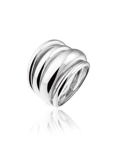 Zilveren ring met 4 rijen | Ringen | Sieraden online bestellen | Fuva.nl