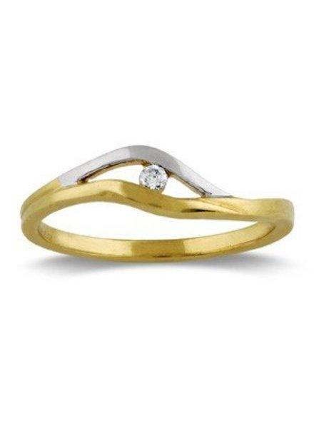Geel met witgouden ring en Diamant
