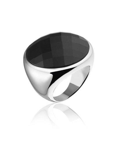 Zilveren ring met grote zwarte Onyx steen | Ringen | Sieraden online bestellen | Fuva.nl