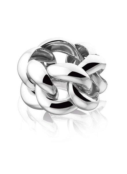 Zilveren ring Gourmette