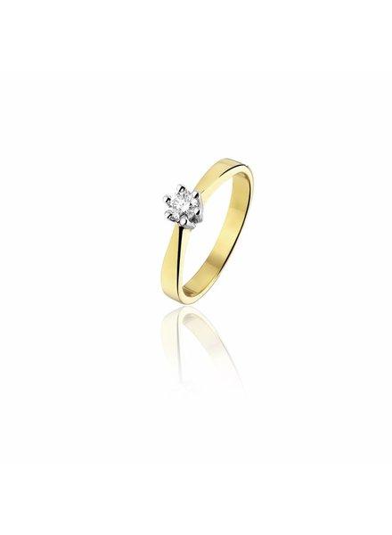 Gouden ring met 0,24ct. Diamant