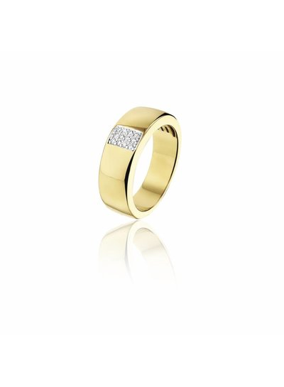 Gouden ring met 12 Diamanten | Trouw- Verlovingsring | Ringen | Sieraden online bestellen | Fuva.nl