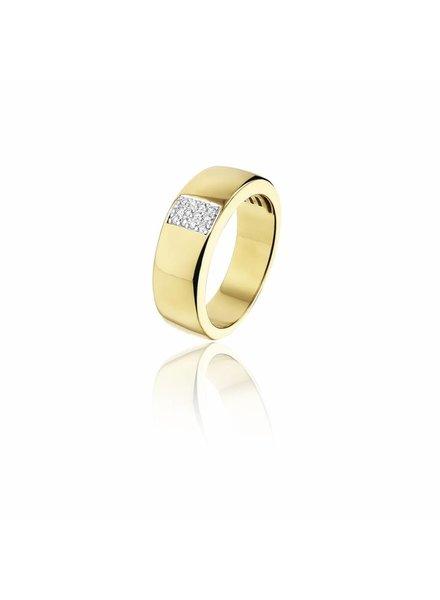 Gouden ring met 12 Diamanten