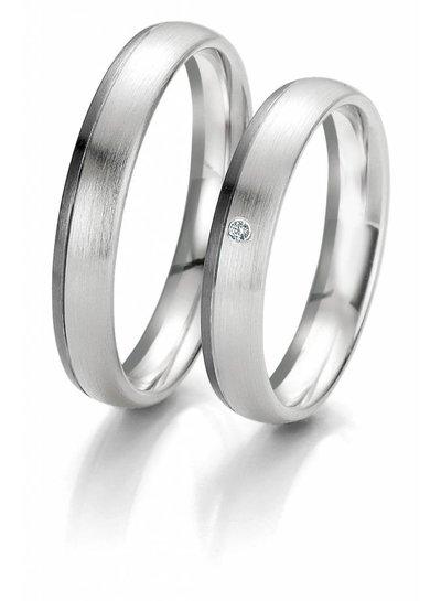 Trouwringen Black & White met 0,01ct. Diamant | Trouw- Verlovingsring | Ringen | Sieraden online bestellen | Fuva.nl