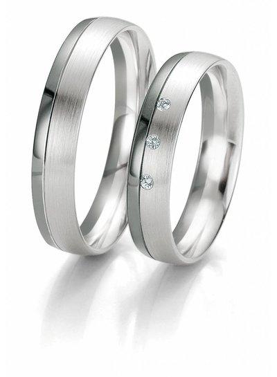 Trouwringen Black & White met 3 Diamanten | Trouw- Verlovingsring | Ringen | Sieraden online bestellen | Fuva.nl
