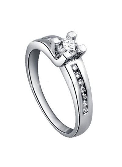 Witgouden ring met 13 Diamanten | Trouw- Verlovingsring | Ringen | Sieraden online bestellen | Fuva.nl