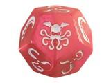 Cthulhu Dice 12 sided - Swirly Pink