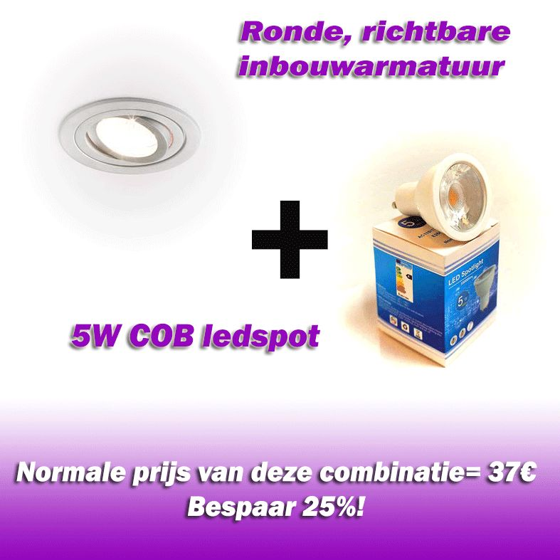 Vallas Inbouwkit Wever Spino7 inclusief LED lamp