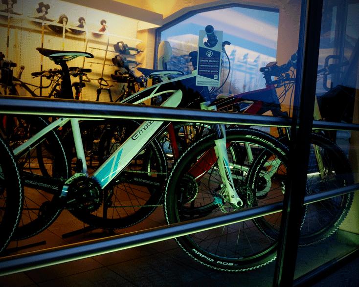 Etalageverlichting fietsen