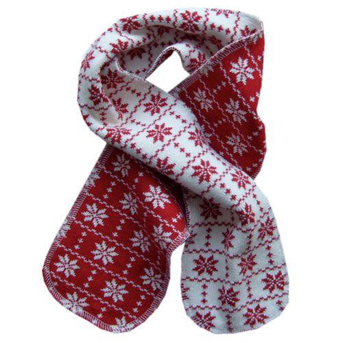 Hopsan Hopsan Snowstar Mini Scarf Red/Creme