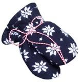 Hopsan Hopsan Snowstar Mini Gloves Navy/Creme