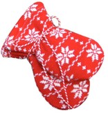 Hopsan Hopsan Snowstar Mini Gloves Rood/Creme
