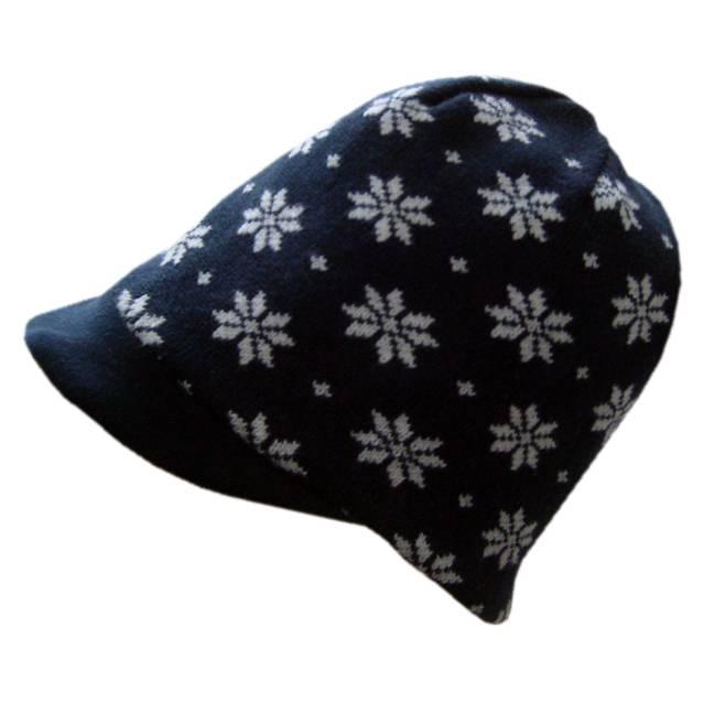 Hopsan Hopsan Snowstar Cap Marineblauw/Creme