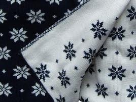 Hopsan Hopsan Blanket Marineblauw/Creme