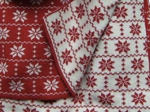 Hopsan Hopsan Blanket Rood/Creme