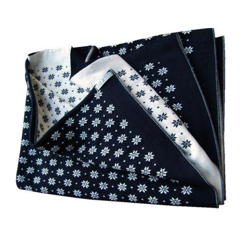 Hopsan Hopsan Blanket XL Marineblauw/Creme