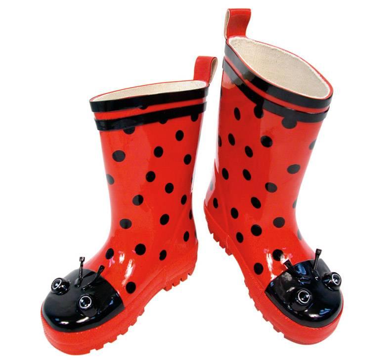 Kidorable Kidorable Ladybug Rain Boots