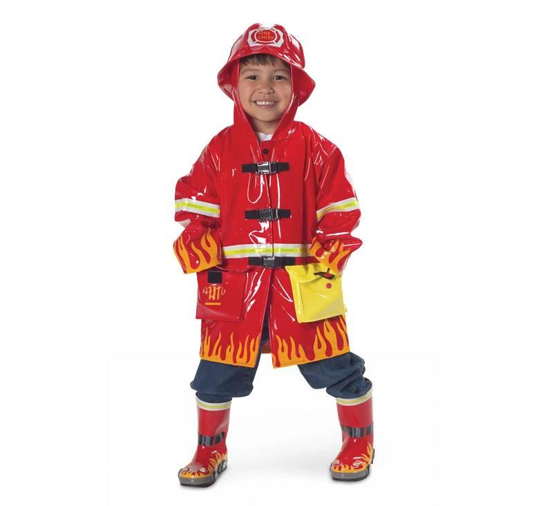 Kidorable Kidorable Waterdichte Regenjas Brandweer