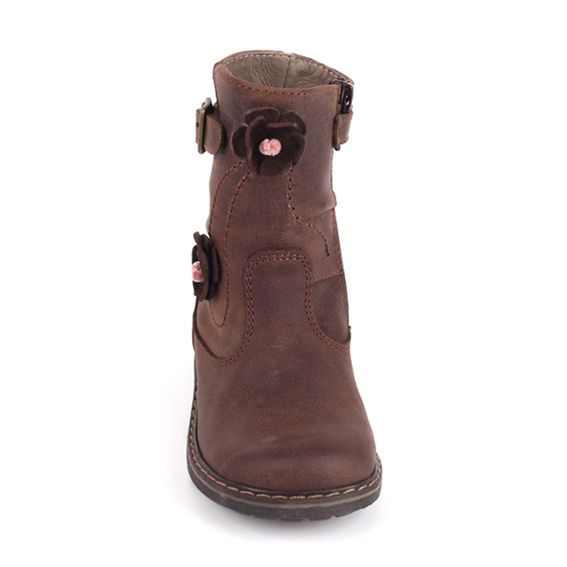 Pinocchio Pinocchio Boot P1530 Buckle Brown With Flower