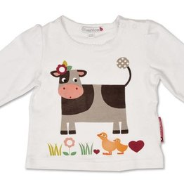 Olive & Moss Olive & Moss Collette the Cow Classic Day T-Shirt Lange Mauw