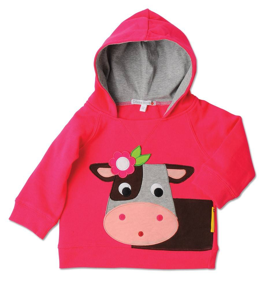 Olive & Moss Olive & Moss Collette the Cow Sweatshirt Capuchon