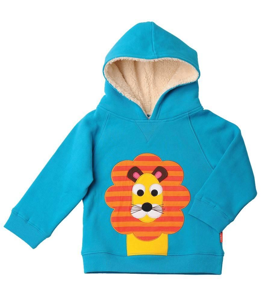 Olive & Moss Olive & Moss Louis the Lion Fleece Lined Hood Sweatshirt