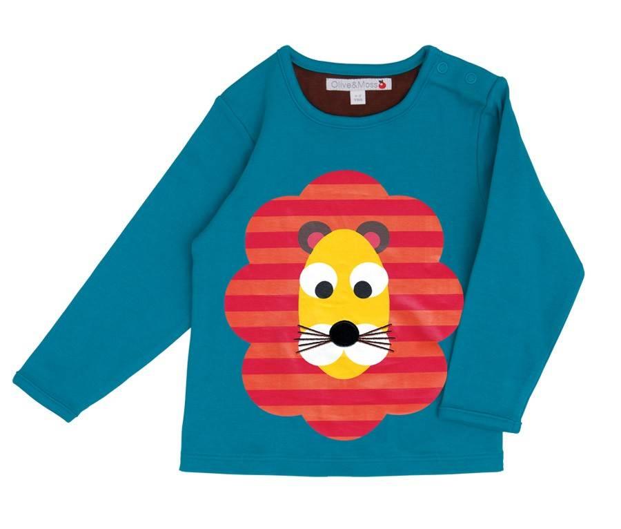 Olive & Moss Olive & Moss Louis de Lion T-Shirt Lange Mauw