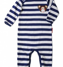 Olive & Moss Olive & Moss Michael the Monkey Applique Playsuit