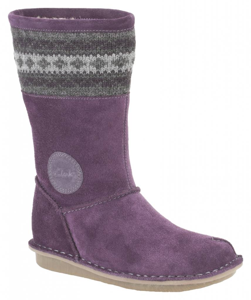 Clarks Clarks Snuggle Hug Purple Suede Infant