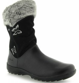 Clarks Clarks Arlina Go GTX Black Leather Infant Snow boot