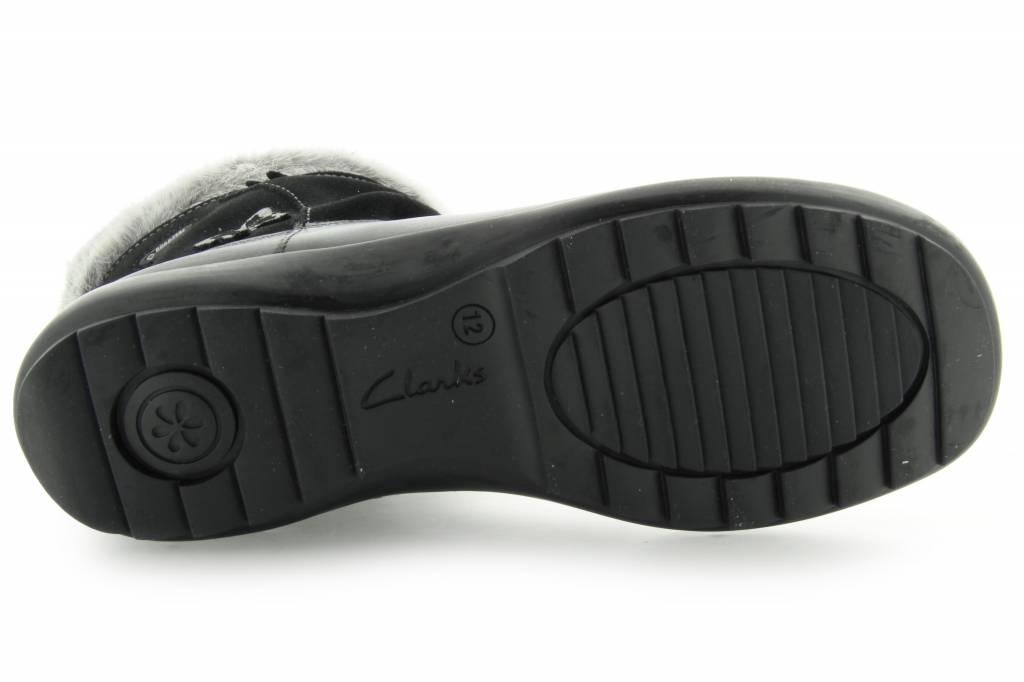 Clarks Clarks Arlina Go GTX Black Leather Junior Snow boot