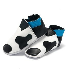 Baby Dutch Baby Dutch Blue Leather Cow Slippers