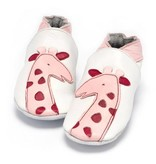 Baby Dutch Baby Dutch Pink Leather Giraffe Slippers