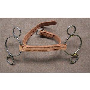 Ledergebiss mit Schnallriemen, 3 Ring - Seitenteile