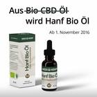 Hanf Bio Öl, bisher: Bio CBD Öl