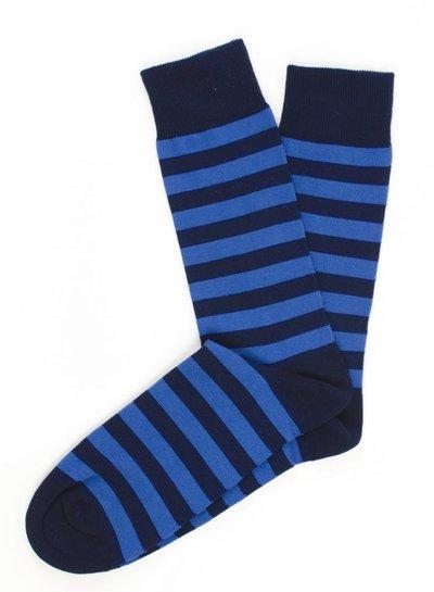 Navy Socks, blauw gestreept
