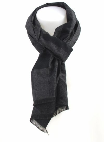 Scarf grey double