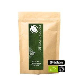 Brands of Nature BIO Chlorella 500 tabletten (500mg)