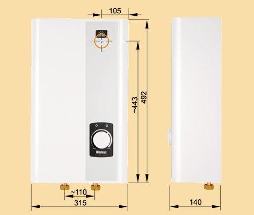 durchlauferhitzer mit 36kw leistung kospel gro und. Black Bedroom Furniture Sets. Home Design Ideas
