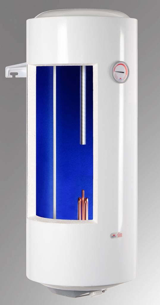 Der Warmwasserboiler 80 Liter von Kospel hat nur 36cm Durchmesser ...