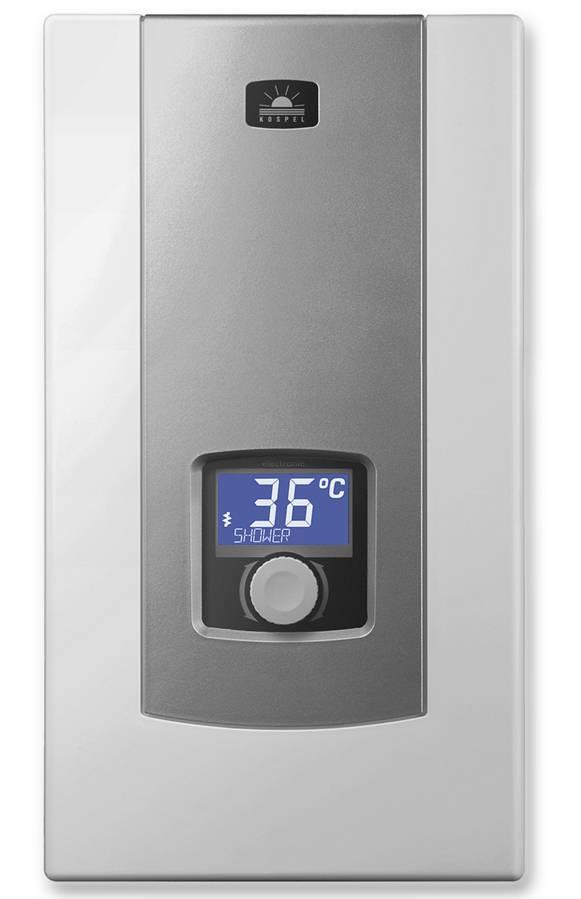 ppe2 electronic lcd vollelektronischer durchlauferhitzer 18 21 24 kw von kospel. Black Bedroom Furniture Sets. Home Design Ideas