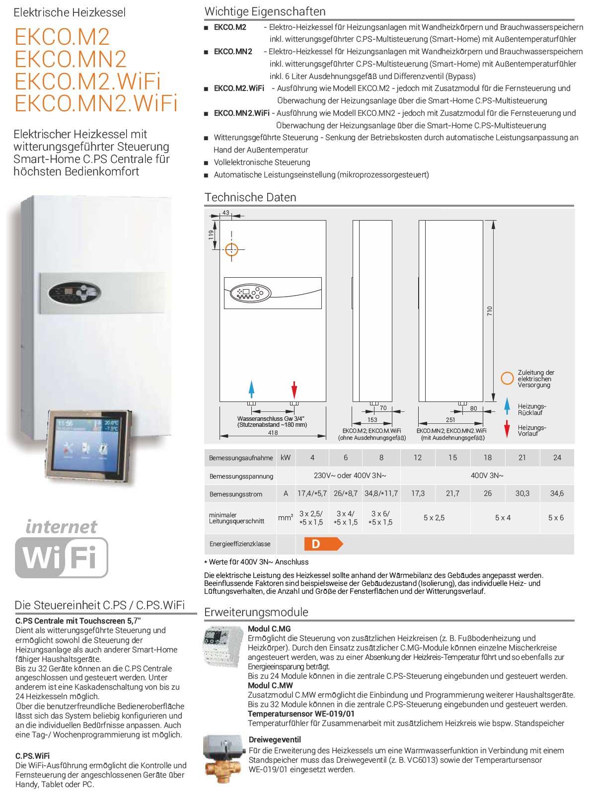 heizkessel ekco mn2 wifi 12 kw witterungsgef hrt mit cp s kospel gro und einzelhandel. Black Bedroom Furniture Sets. Home Design Ideas