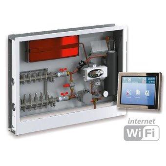 Kospel S.A. 6 kW Fußboden-Heizkessel mit Heizkreisverteiler und C.PS Smart-Home Steuerung