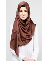 dUCk Satin Silk in Chocolate Fondue - SALE