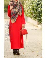 Annah Hariri Red Basic Pencil Dress - SALE