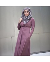 Verona Venetian Maxi Dress- Mauve